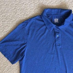 Men's 32 Degrees blue polo shirt short sleeve